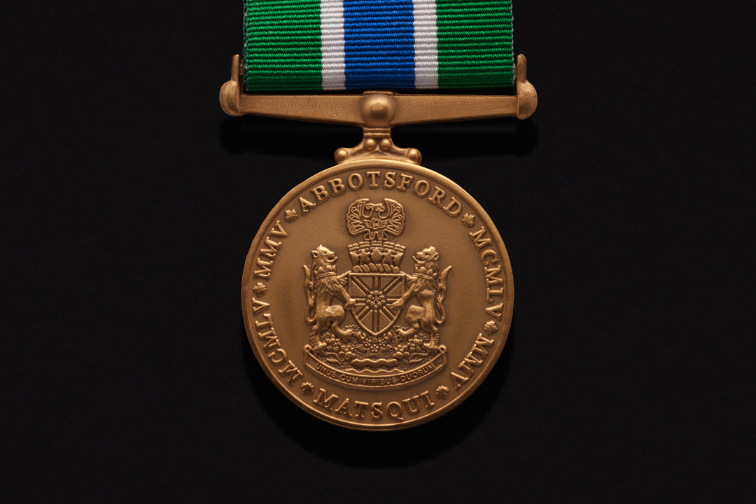Abbotsford Police Department, Award Medal Antiqued Gold Plated