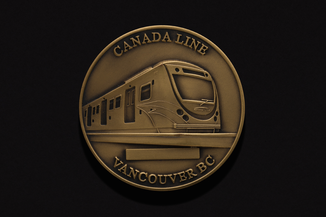 Canada Line Tunnel, Completion Medal Brass