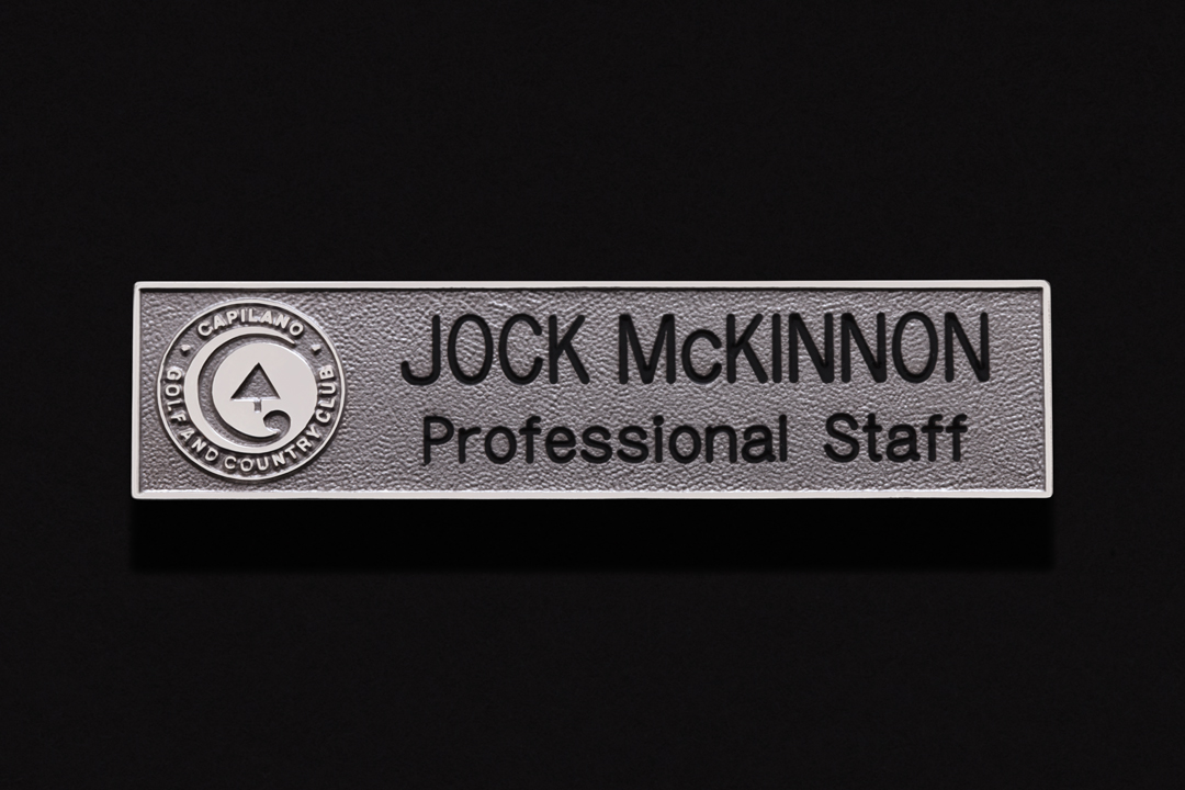 Capilano Golf and Country Club Staff, Name Tag Nickel Plated