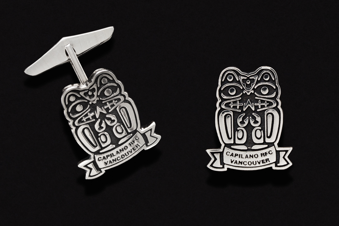 Capilano Rugby Football Club, Cufflinks Sterling Silver