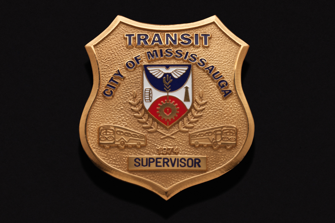 City of Mississauga Transit Supervisor, Cap Badge Gold Plated