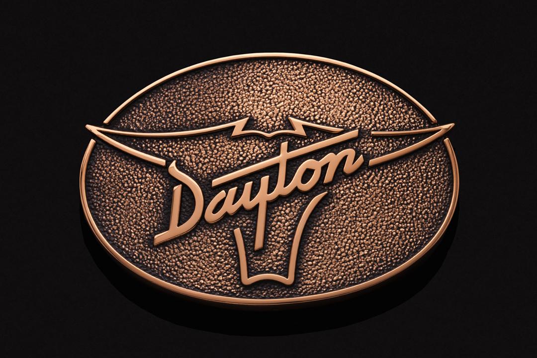 Dayton Boots Steer, Belt Buckle Commercial Bronze