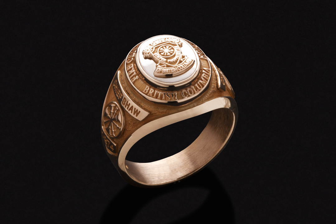 Fire Chiefs' Association of British Columbia, Ring 14K Yellow Gold, 14K White Gold