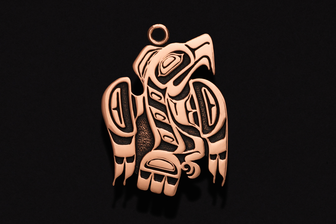 First Nations Eagle, Pendant Copper