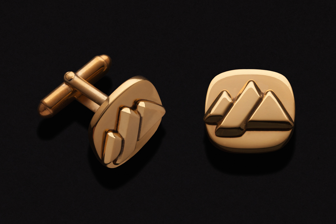 Forest Company Logo, Cufflinks Gold Plated