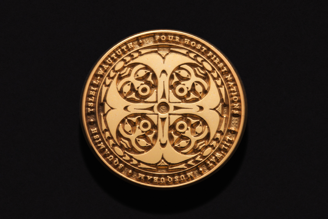 Four Host First Nations, Logo Pin Gold Plated