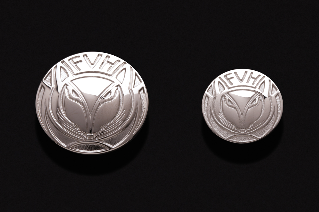 Fraser Valley Hunt Club, Buttons Nickel Plated