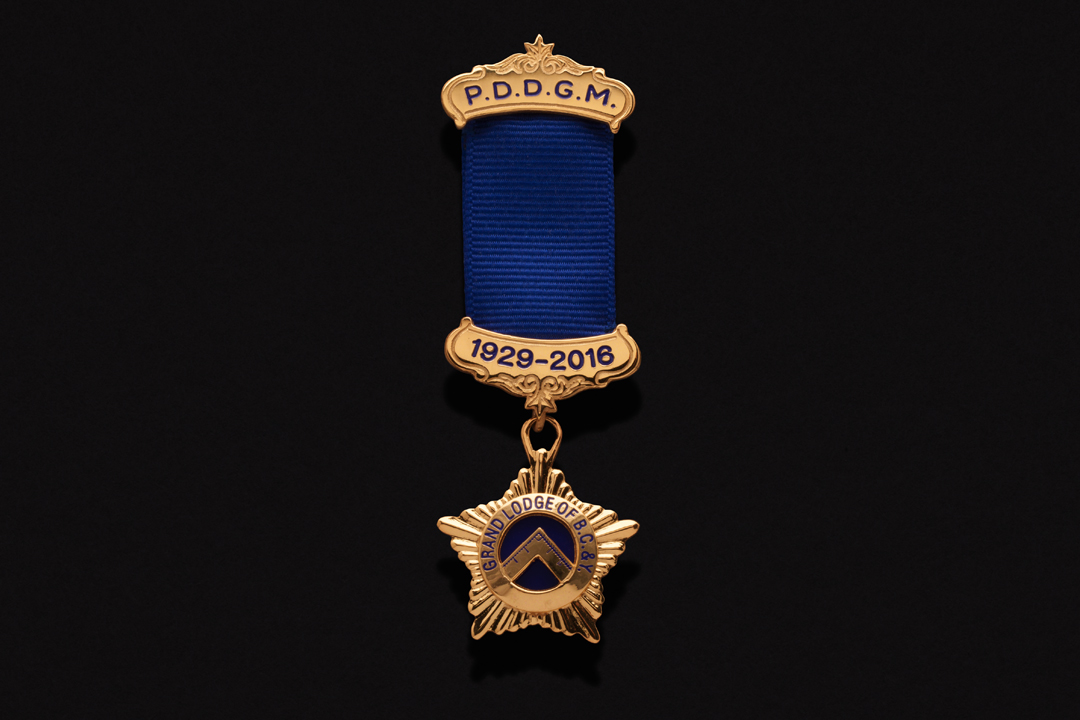 Grand Lodge Masonic PDDGM Jewel Gold Plated