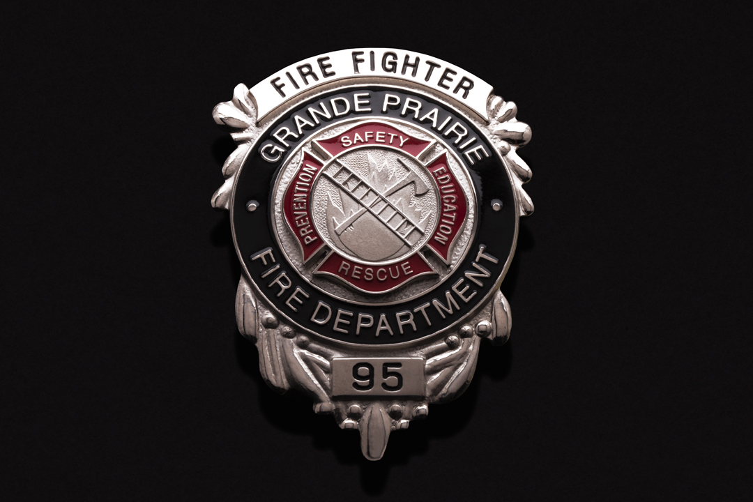 Grande Prairie Fire Department, Wallet Badge Chrome Plated