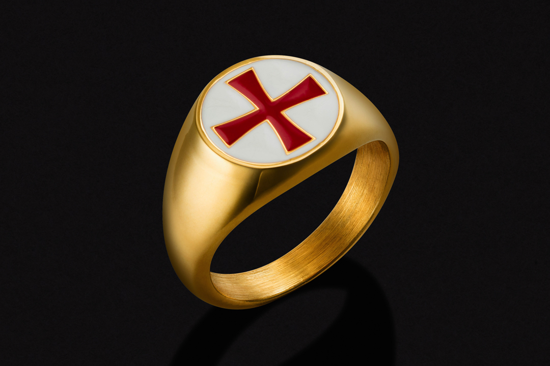 KT Masonic Ring of Profession 10K Yellow Gold