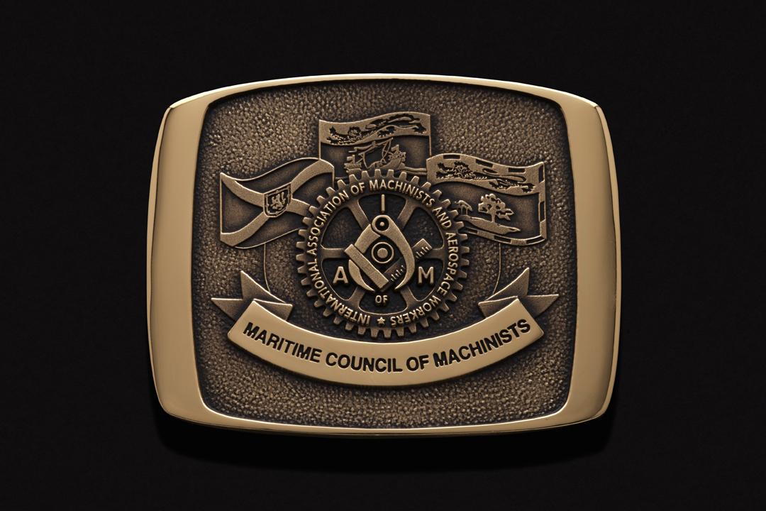 Maritime Council of Machinists, Belt Buckle Brass
