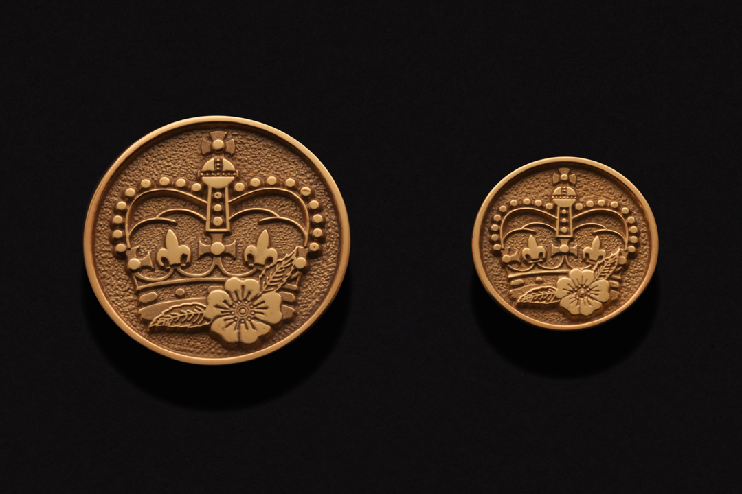 Military Regiment, Buttons Gold Plated