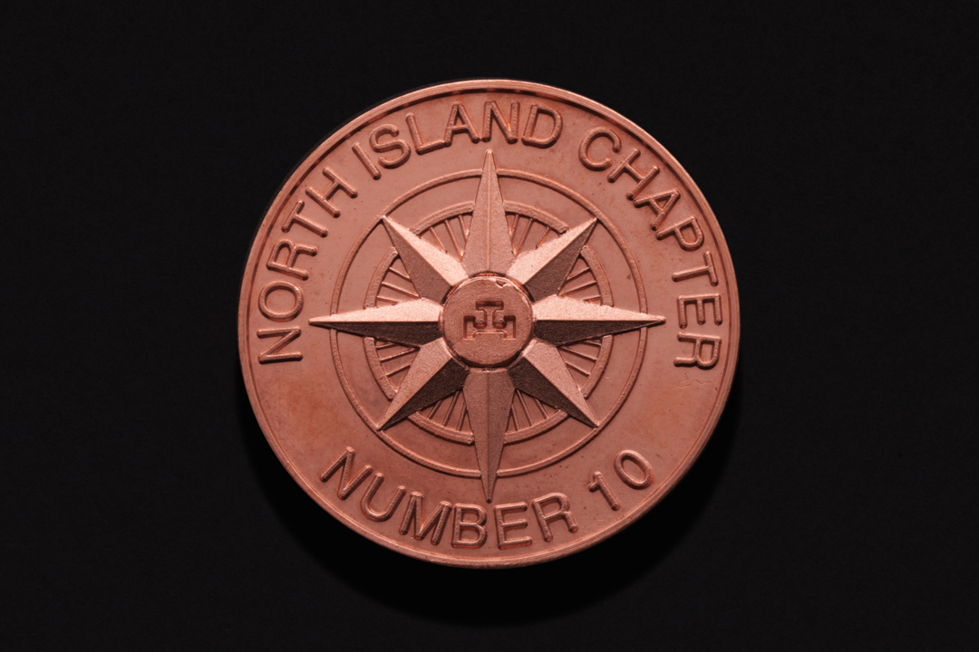 North Island Chapter Number 10 Masonic Penny Copper