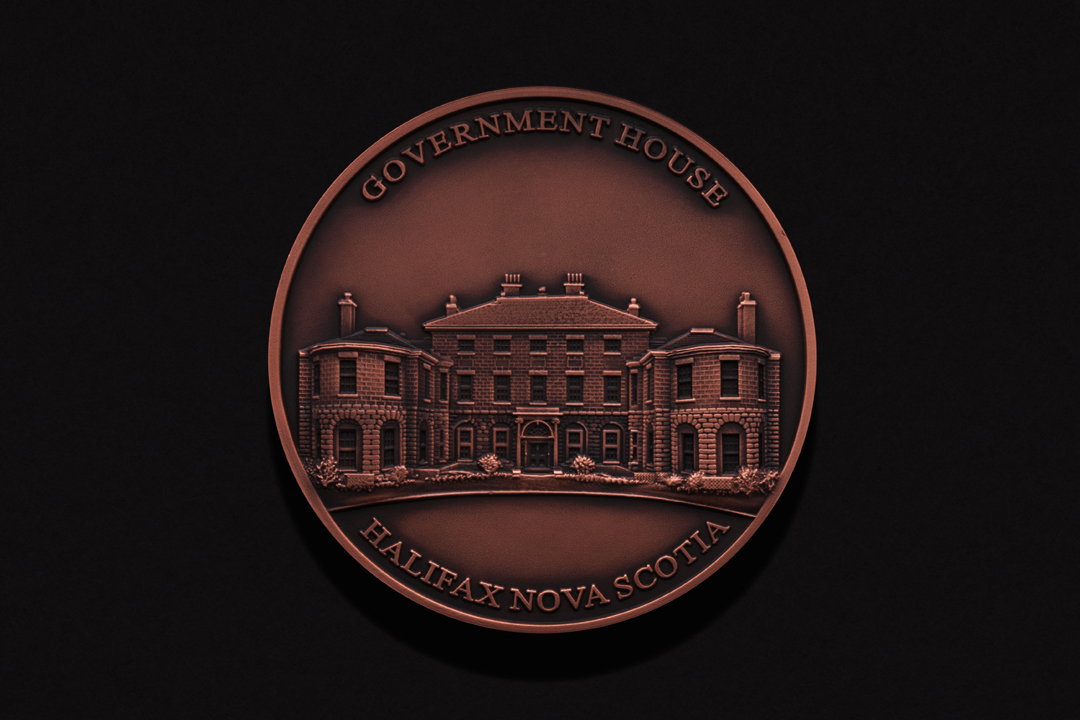 Nova Scotia Government House, Table Medal Copper