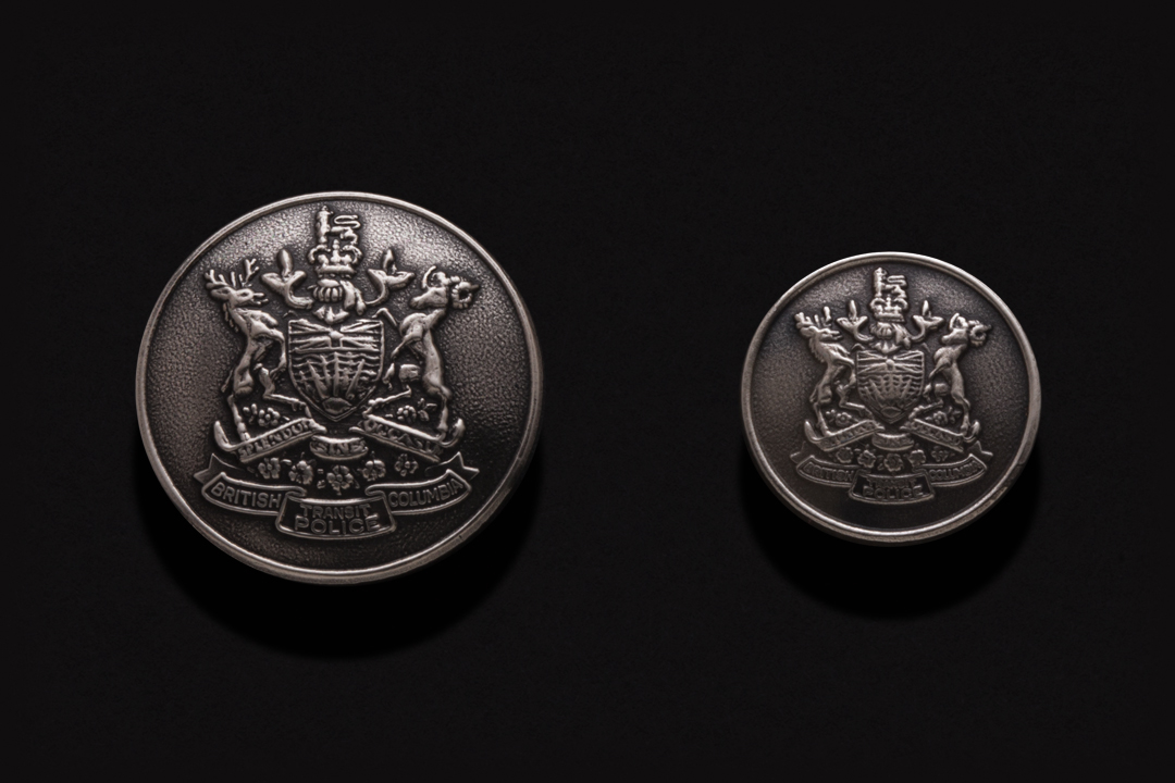 Province of British Columbia, Buttons Nickel Silver