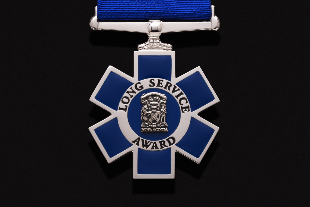 Province of Nova Scotia EHS, Long Service Medal Nickel Plated