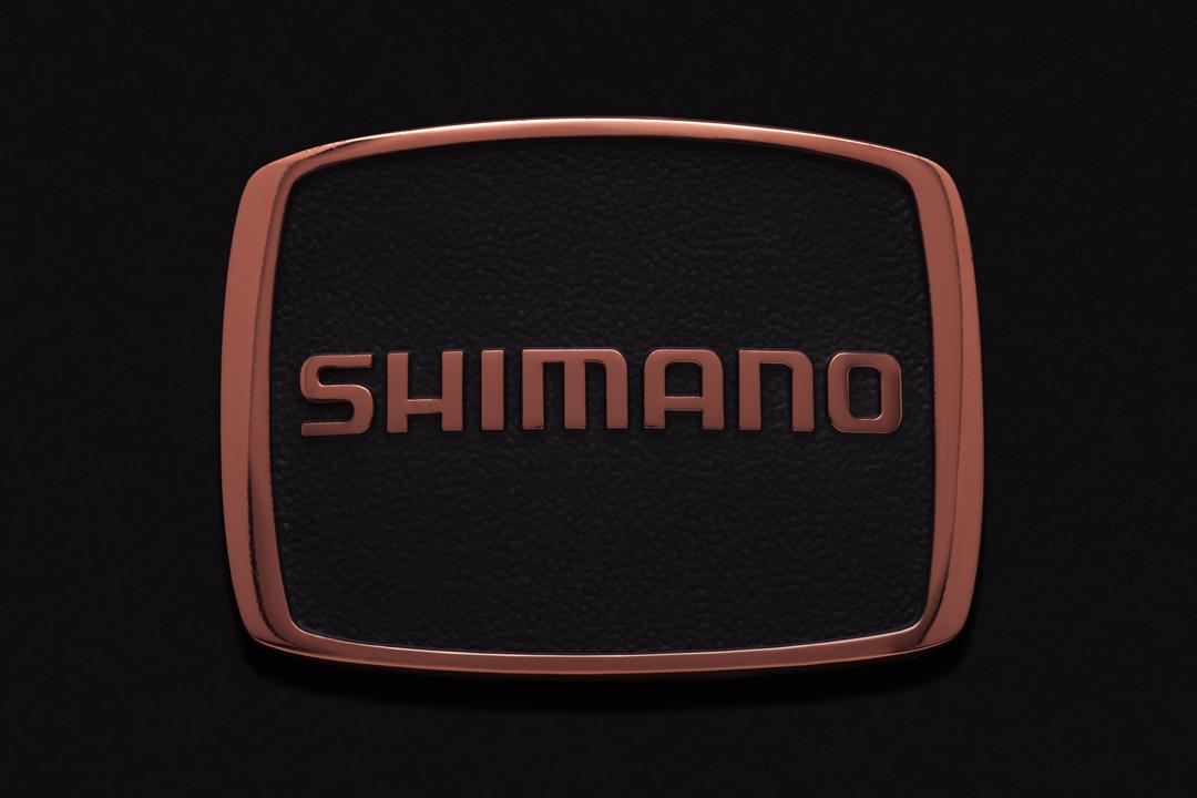 Shimano Logo, Belt Buckle Copper