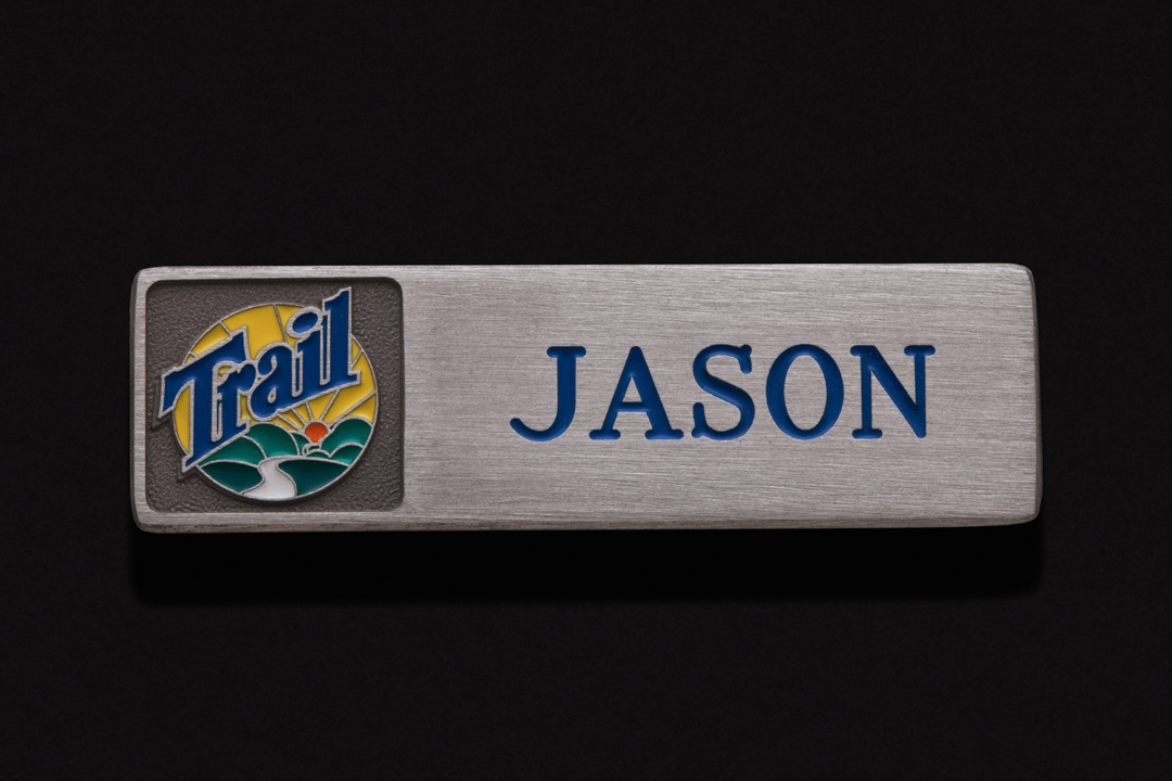 Trail Appliances, Name Tag Nickel Silver