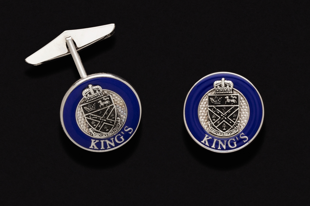 University of King's College Coat of Arms, Cufflinks Nickel Plated