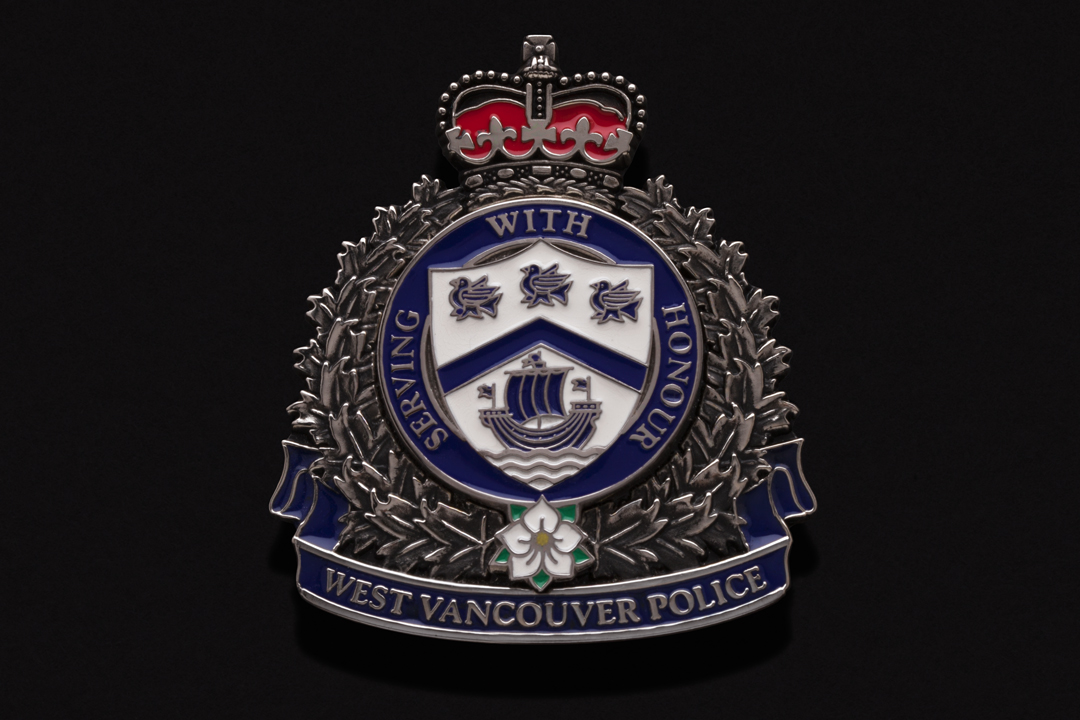West Vancouver Police Department, Cap Badge Nickel Plated